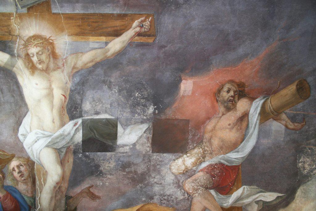 Restaurierung eines Deckengemäldes der St. Anna Kirche Augsburg