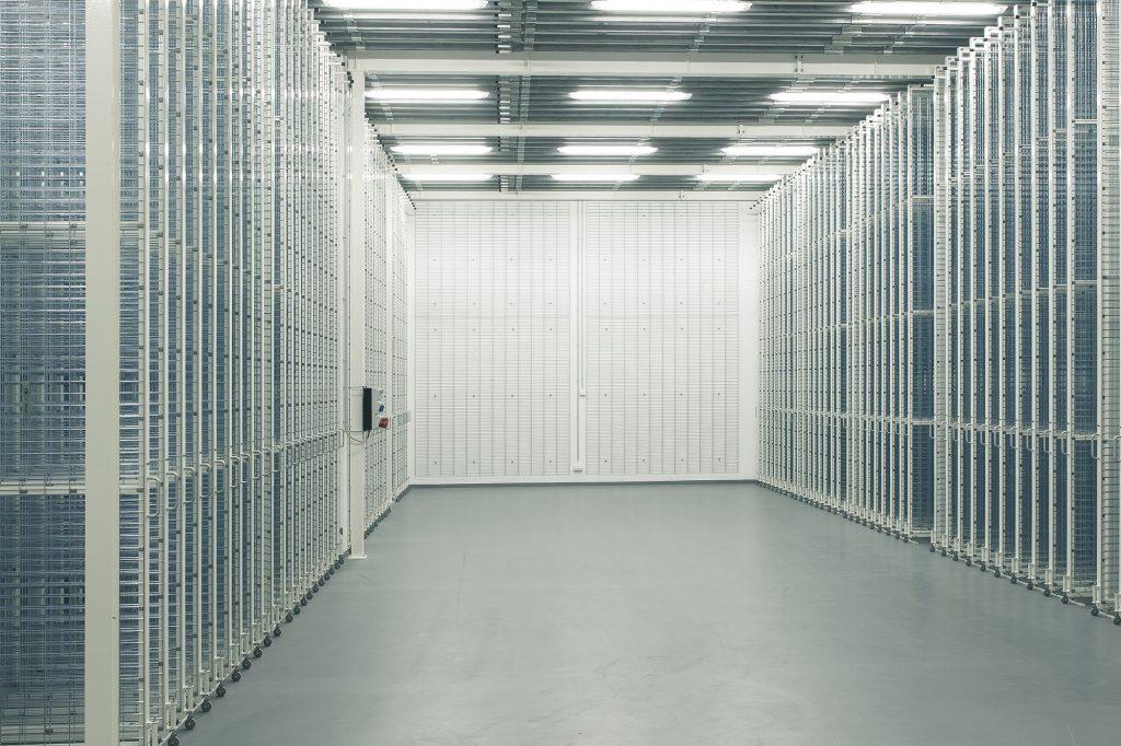 Gemäldezuganlage im Museumsdepot der Kunsthalle Mannheim