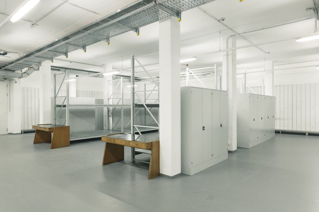 Lagertechnik im Museumsdepot der Kunsthalle Mannheim