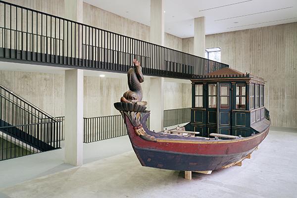 Prunkschiff Delphin im Museum Starnberger See als Beispielbild für Restaurierungen